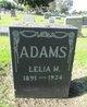 Profile photo:  Lelia M Adams