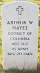 Profile photo: Sgt Arthur W Hayes