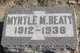Myrtle M Beaty