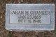 Profile photo:  Sarah Margaret <I>Daugherty</I> Granger