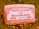 Edith V. <I>Weisenburger</I> Stager