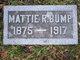 """Matilda Roselia """"Mattie"""" Bump"""