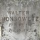 Profile photo:  Walter Irving Honsowetz