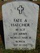 Profile photo:  Fate A. Hatcher