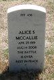 Profile photo:  Alice S Mccallie
