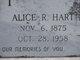 Profile photo:  Alice R Hart