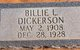 Profile photo:  Billie L. Dickerson
