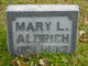 Profile photo:  Mary <I>Lillibridge</I> Aldrich