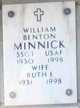Profile photo:  William Benton Minnick, Sr