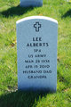 "Profile photo:  LeRoy Charles ""Lee"" Alberts"