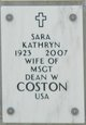 Sara Kathryn <I>Moran</I> Coston