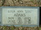 "Profile photo:  Lula Ann ""Lou"" Adams"