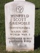 "Maj Winfield Scott ""W.S."" Grenoble"