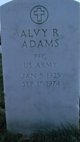 PFC Alvy R. Adams