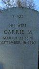 Carrie M Adams