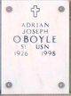 Profile photo:  Adrian Joseph O'Boyle