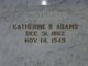 Katherine Belle Adams