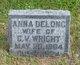 Profile photo:  Anna <I>DeLong</I> Wright