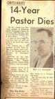 Rev James Carl MacLean