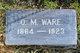 """Oliver Morton """"O.M."""" Ware"""