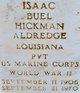 PVT Isaac Buel Hickman Aldredge