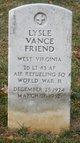 Profile photo: 2LT Lysle Vance Friend