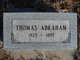 Profile photo:  Thomas Abraham