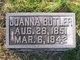 Joanna E. <I>Johnson</I> Butler