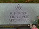 Robert Franklin Ritch, Sr