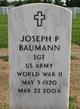 Profile photo:  Joseph P Baumann