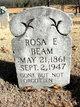 Rosa Eltha <I>Roberts</I> Beam
