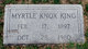 Myrtle Bee <I>Knox</I> King
