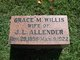 Profile photo:  Grace Mabel <I>Willis</I> Allender