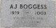 Profile photo:  A. J. Boggess