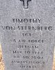 Profile photo:  Timothy Von Sternberg
