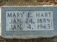 Profile photo:  Mary E. Hart