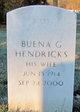 Buena Gale <I>Morris</I> Hendricks