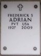 Profile photo:  Frederick S Adrian