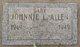 Profile photo:  Johnnie Larry Allen