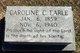 """Profile photo:  Caroline Cornelia """"Carrie"""" Earle"""