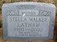 Profile photo:  Stella <I>Walker</I> Latham