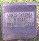 Profile photo:  Agnes <I>Carroll</I> Miller
