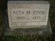 Profile photo:  Alta May <I>Williams</I> Zook
