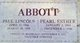 Profile photo:  Pearl Esther <I>Peters</I> Abbott