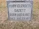 "Mary Elizabeth ""Mamie"" <I>Hiscock</I> Gazett"