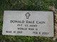 Pvt Donald Dale Cain