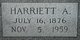 """Harriett Anderly """"Annie"""" <I>Peal</I> Pearson"""