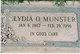 Lydia Olevene <I>Myers</I> Munster