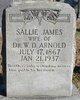 Sallie <I>James</I> Arnold