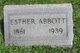 Esther <I>Messinger</I> Abbott